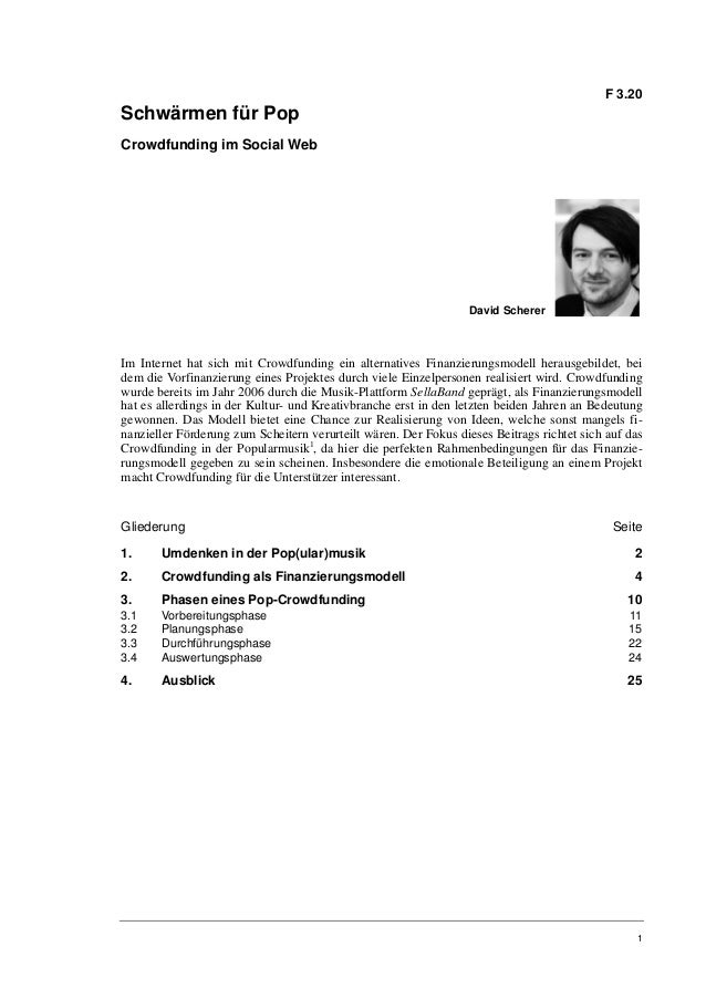 David Scherer: Crowdfunding im Social Web