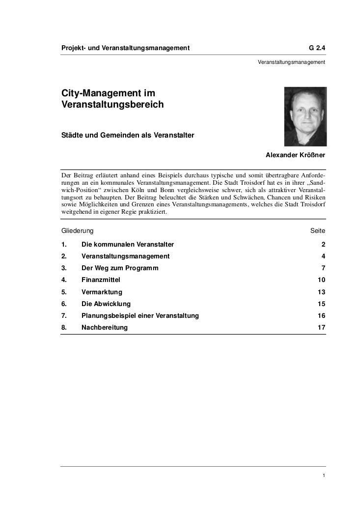 Alexander Krößner: City-Management im Veranstaltungsbereich. Städte und Gemeinden als Veranstalter