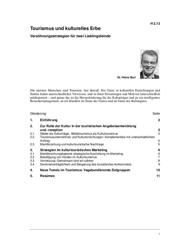 H 2.13Tourismus und kulturelles ErbeVersöhnungsstrategien für zwei Lieblingsfeinde                                        ...