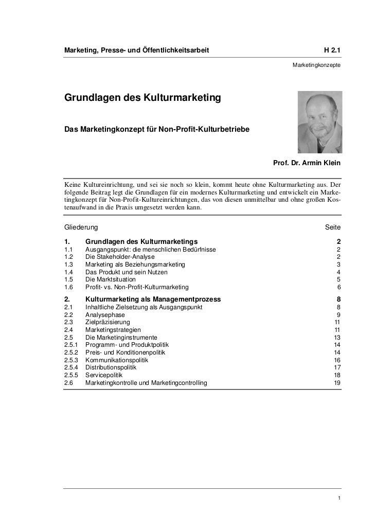 Marketing, Presse- und Öffentlichkeitsarbeit                                             H 2.1                            ...