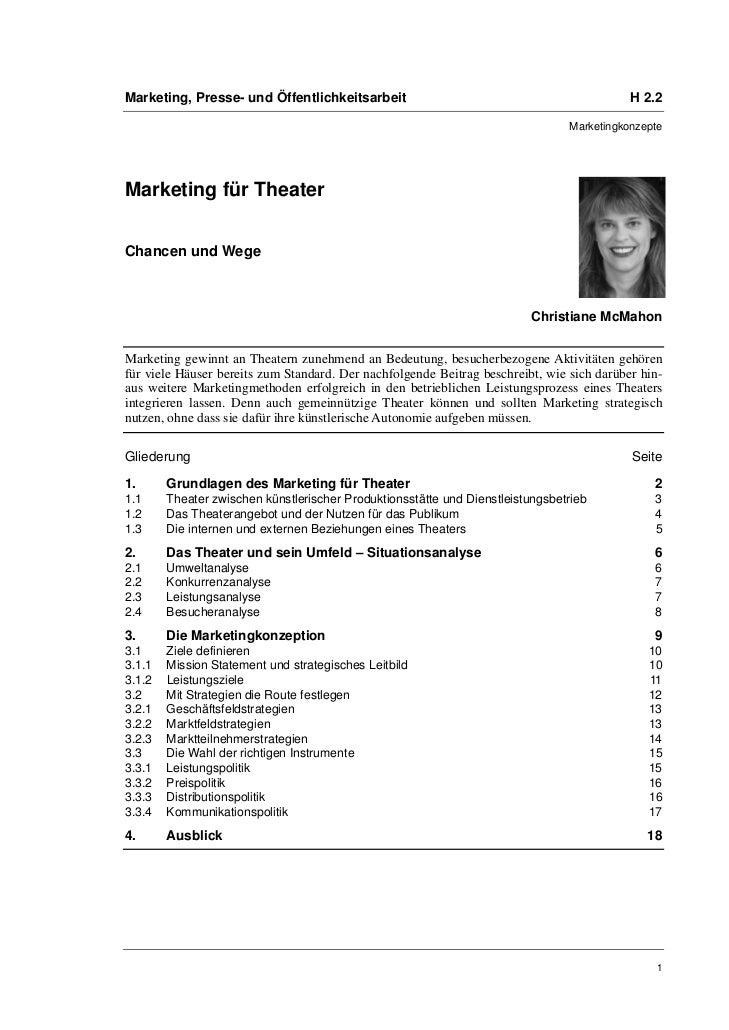 Marketing, Presse- und Öffentlichkeitsarbeit                                               H 2.2                          ...
