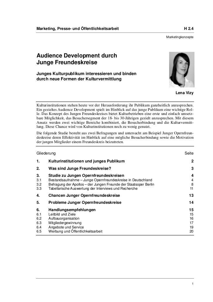 Lena Vizy: Audience Development durch Junge Freundeskreise