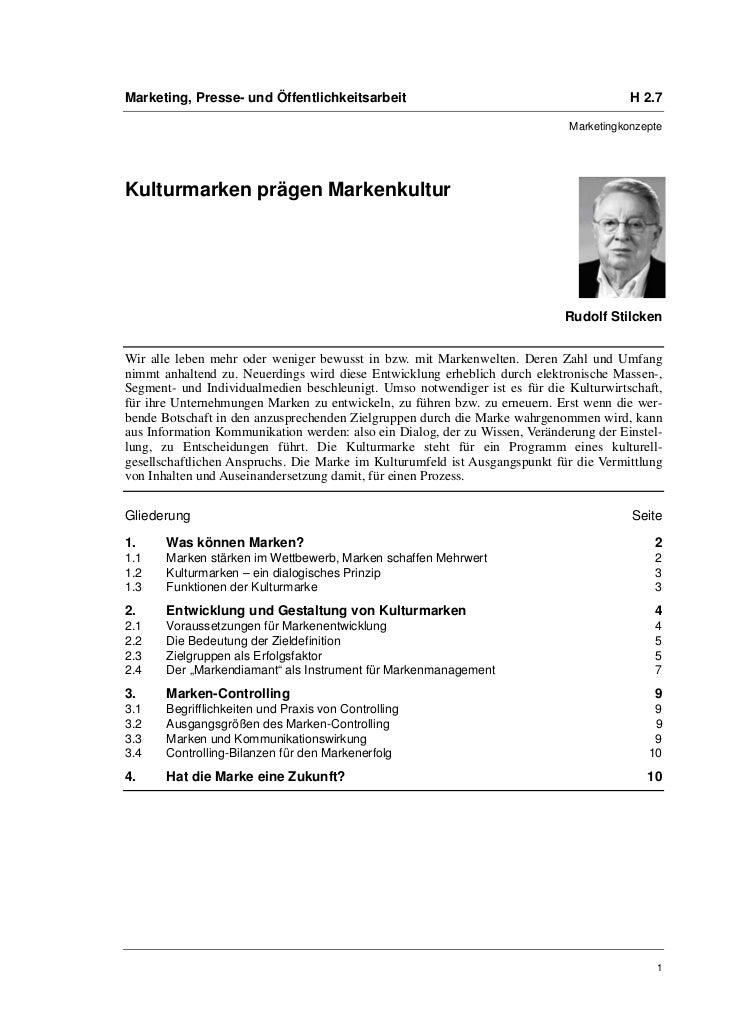 Marketing, Presse- und Öffentlichkeitsarbeit                                            H 2.7                             ...