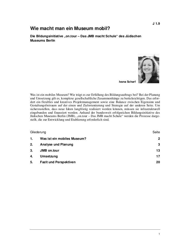 """Ivana Scharf_Bildungsinitiative """"on.tour – Das JMB macht Schule"""""""