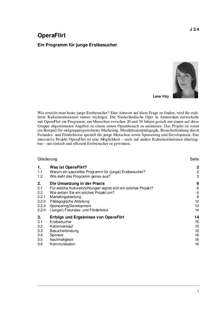 Lena Vizy: OperaFlirt. Ein Programm für junge Erstbesucher