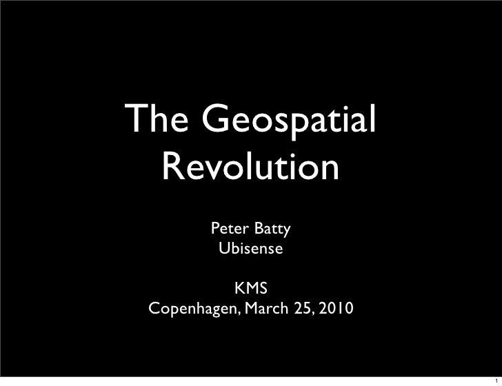 The Geospatial Revolution in Copenhagen