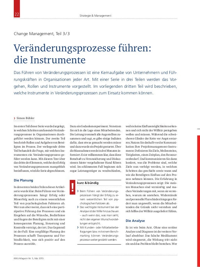 KMU-Magazin Nr. 5, Mai 2015 22 Strategie & Management ImerstenTeildieserSeriewurdedargelegt, inwelchenSchrittenumfassendeV...