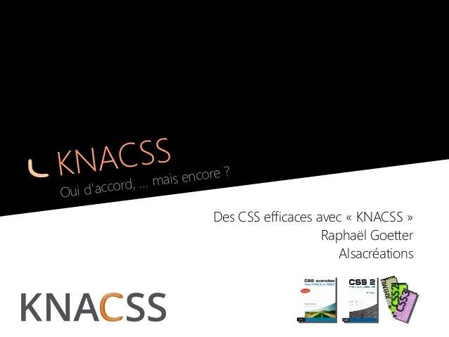Des CSS efficaces avec KNACSS