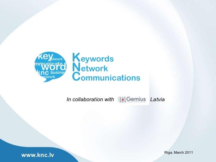 Knc_presentation_gemiusWorkShop_March_2011