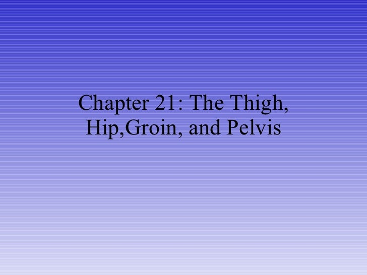 Chapter 21: The Thigh, Hip,Groin, and Pelvis