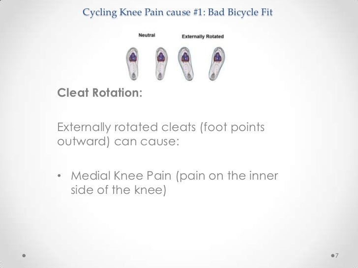 Cycling knee pain for Exterior knee pain