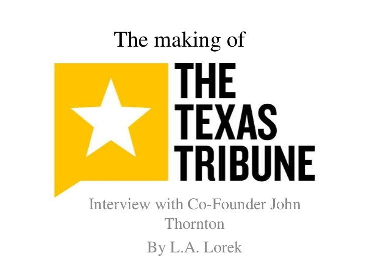 The making of<br />Interview with Co-Founder John Thornton<br />By L.A. Lorek<br />