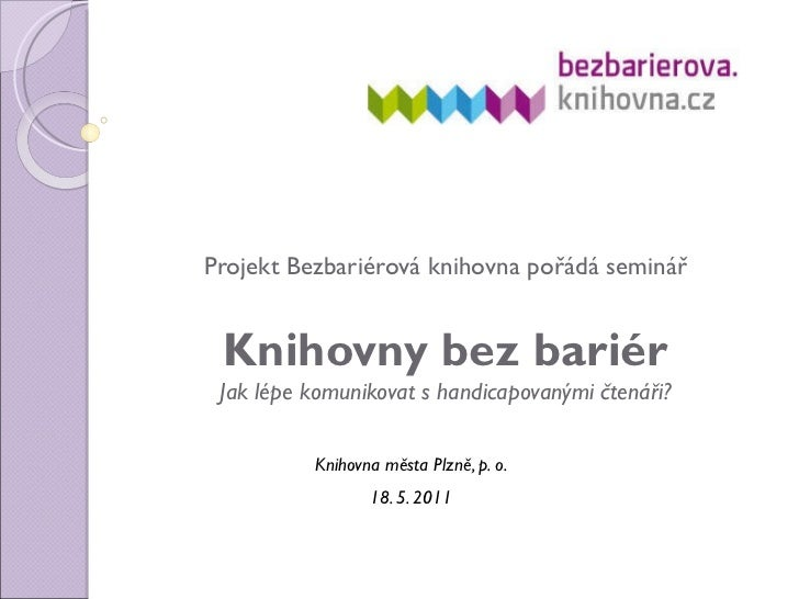 Projekt Bezbariérová knihovna.cz