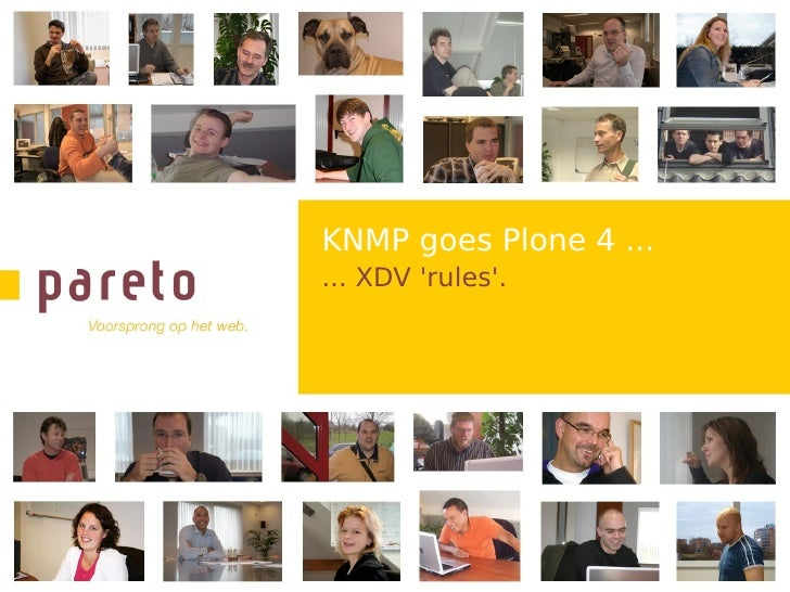KNMP goes Plone 4 ... ... XDV 'rules'.