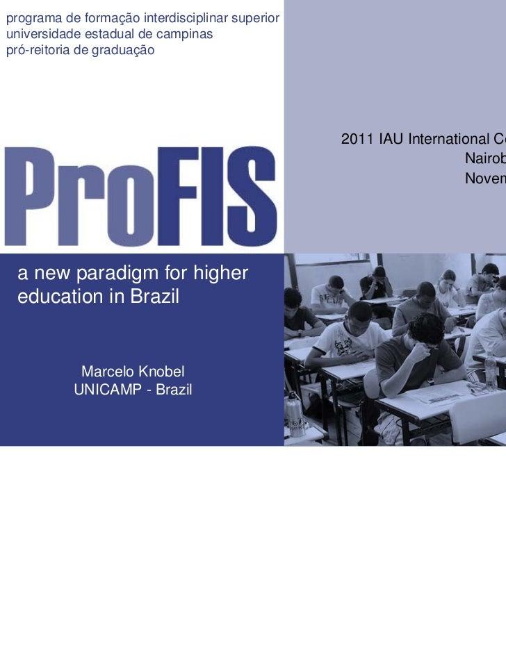 programa de formação interdisciplinar superioruniversidade estadual de campinaspró-reitoria de graduação                  ...