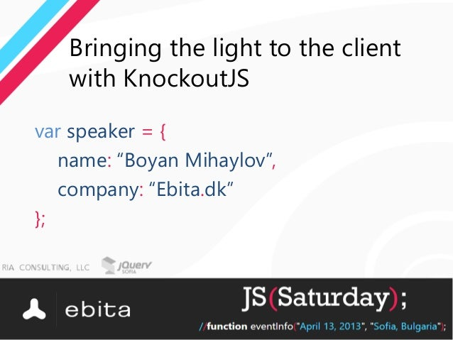 Bringing the light to the client with KnockoutJS