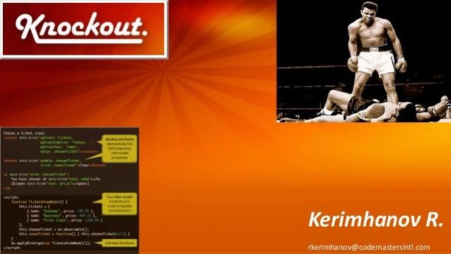 Kerimhanov R. rkerimhanov@codemastersintl.com