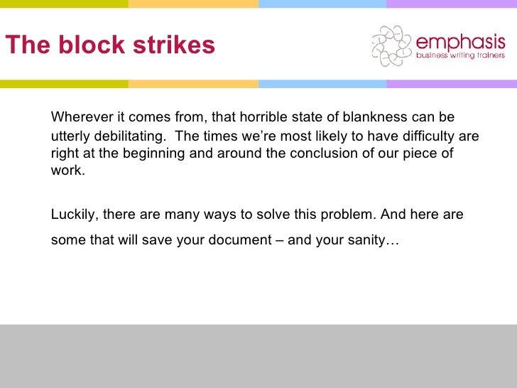 Phd thesis writers block