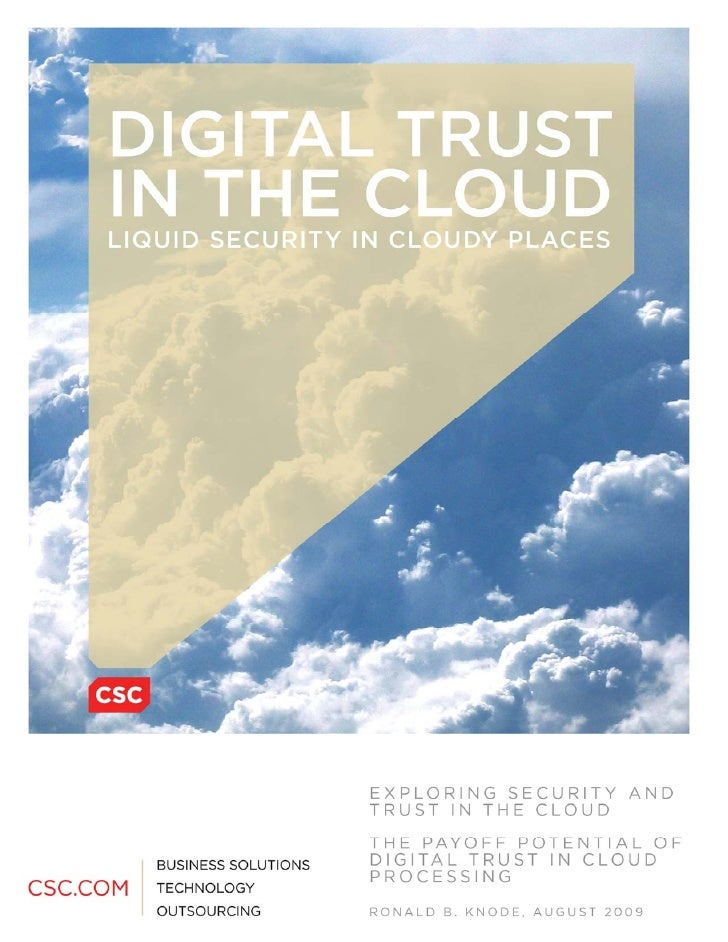 Digital Trust In The Cloud