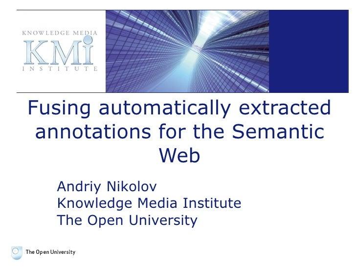 Fusing semantic data