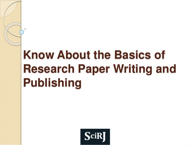 to write a research paper