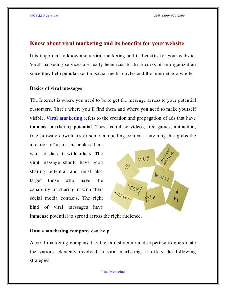 MOS SEO Services                                             Call: (800) 670 2809Know about viral marketing and its benefi...