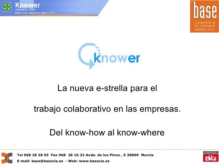 Knower, herramienta colaborativa