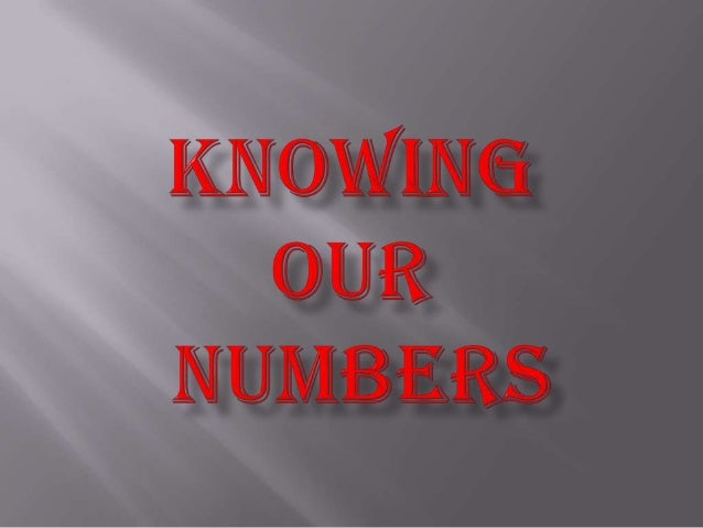 1.Knowing our numbers helps us in counting objects in large numbers & representing them through numerals. 2.Numbers helps ...