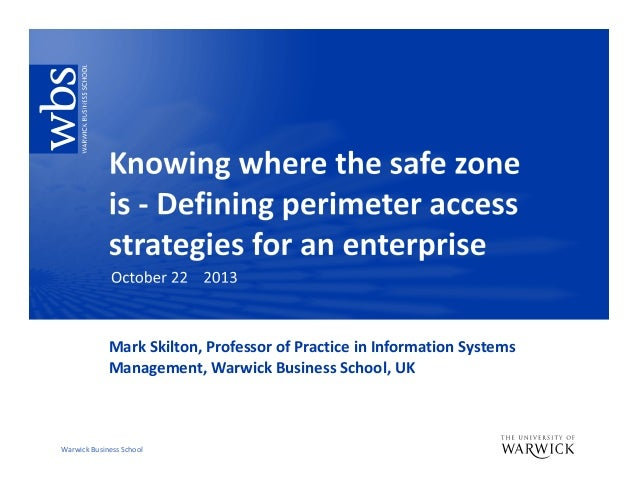 Knowing where the safe zone is  ovum october 22 2013