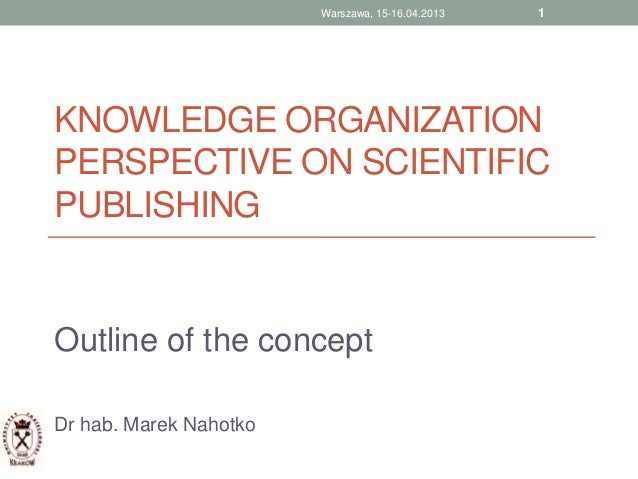 Knowledge organization in publishing