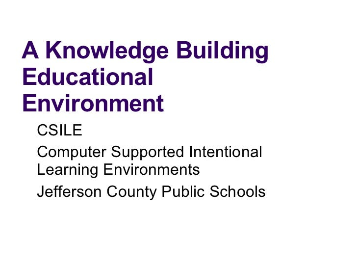 Knowledge Building In Jefferson County Public Schools