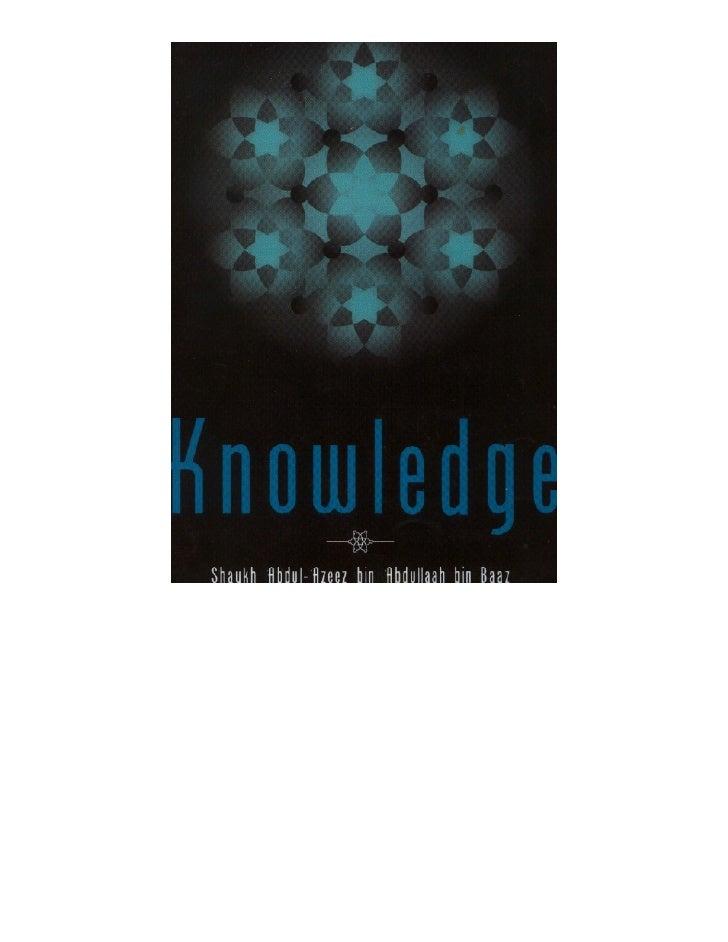 Knowledge   Ibn Baaz