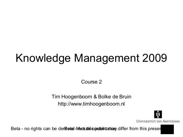 Knowledge Management 2009 (2)