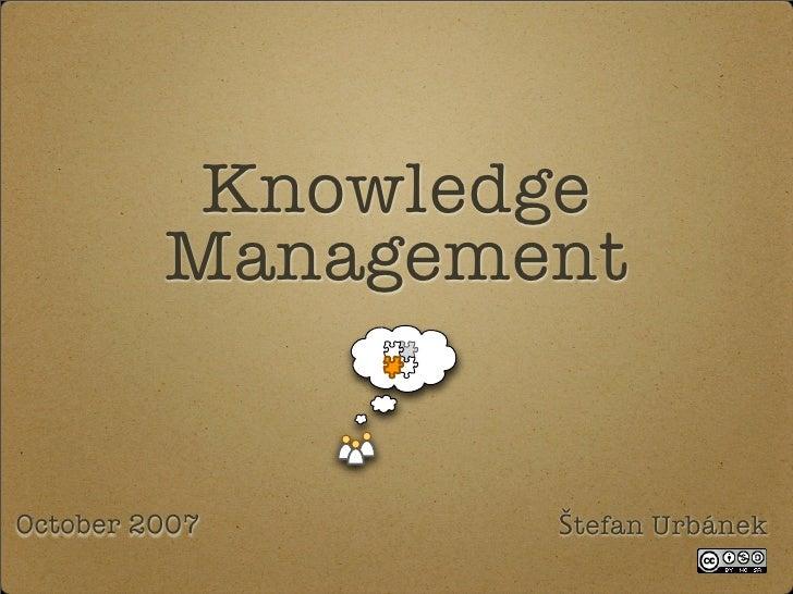 Knowledge Management Introduction