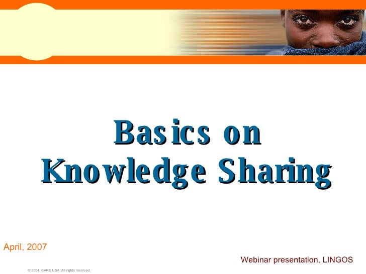 Knowledge Sharing at CARE