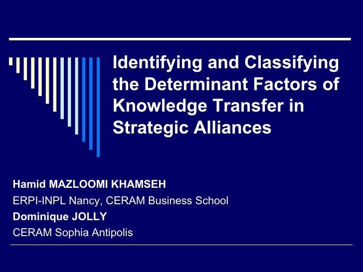 knowledge transfer in alliances