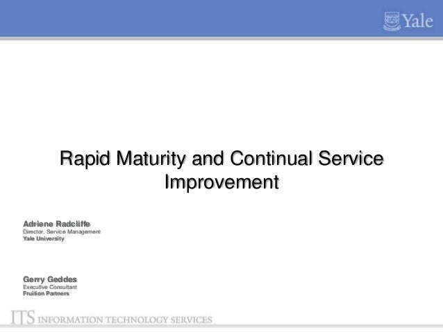 Knowledge12 yale service management rapid maturity   yale format