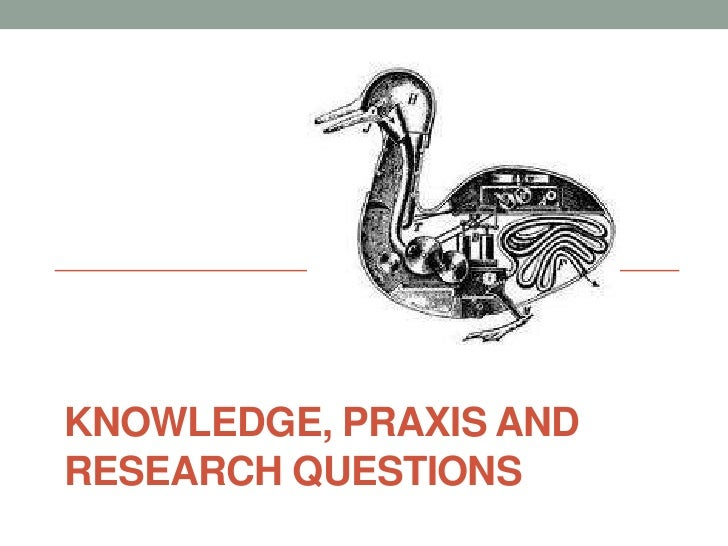 KNOWLEDGE, PRAXIS ANDRESEARCH QUESTIONS