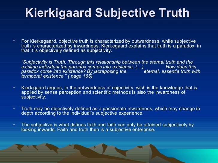 the misconception of subjectivity and objectivity This is a discussion on carl jung succinct: subjective vs objective functions carl jung succinct: subjective vs objective a misconception.