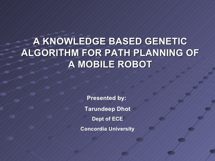 Knowledge Based Genetic Algorithm for Robot Path Planning