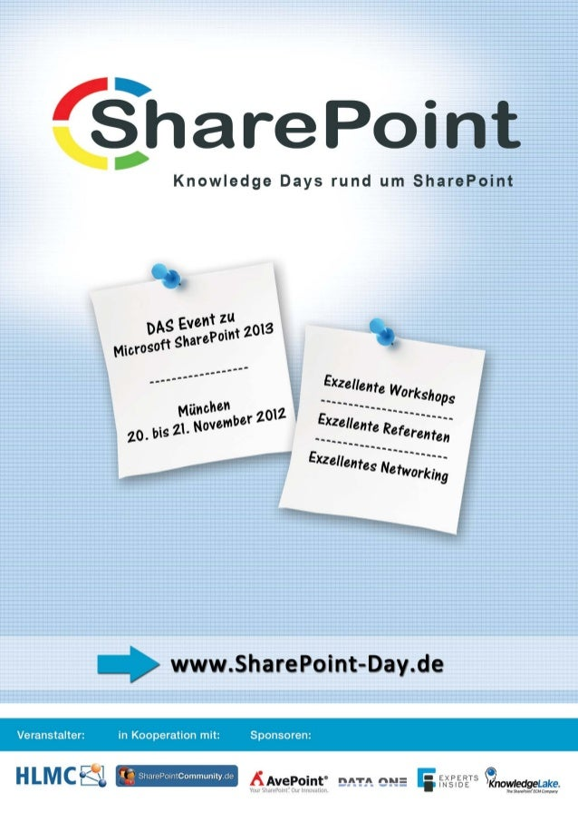 Knowledge Days rund um SharePoint – Das Event zu Microsoft SharePoint 2013