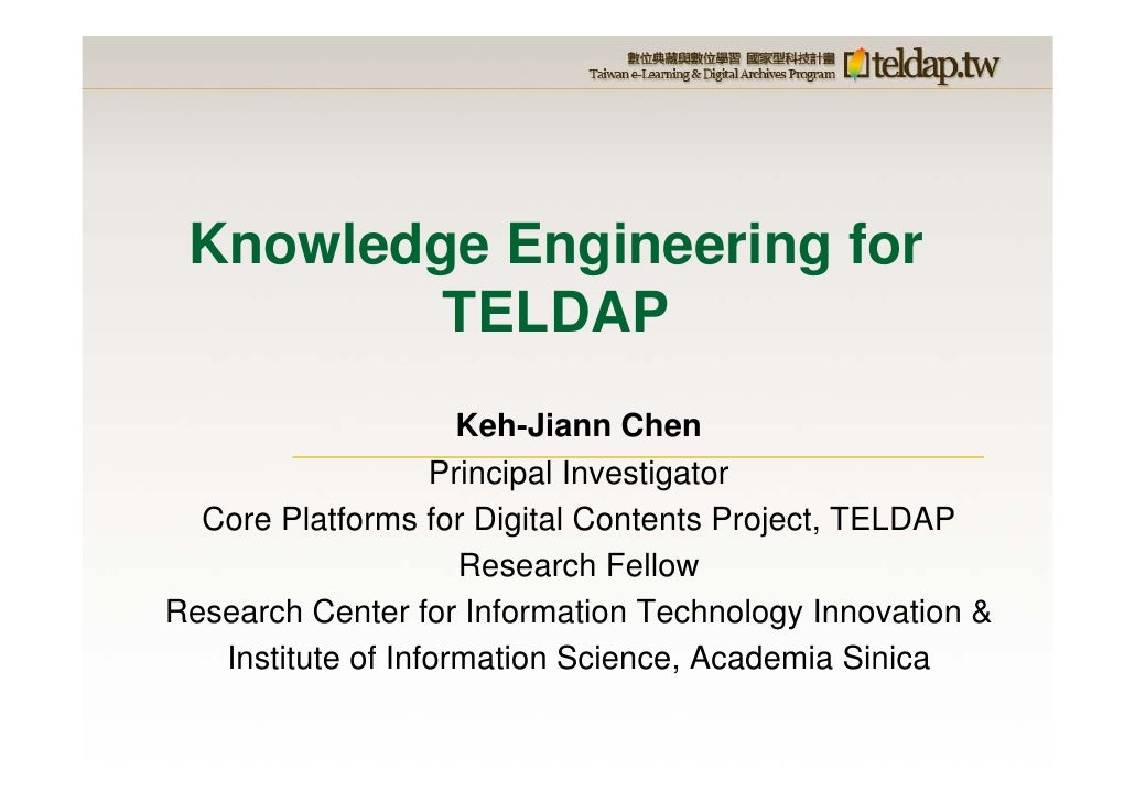 Knowledge Engineering for TELDAP