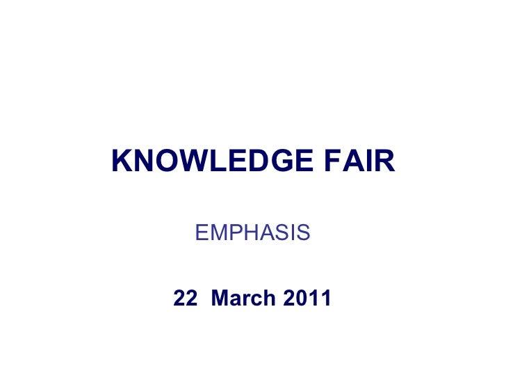Knowledge fair