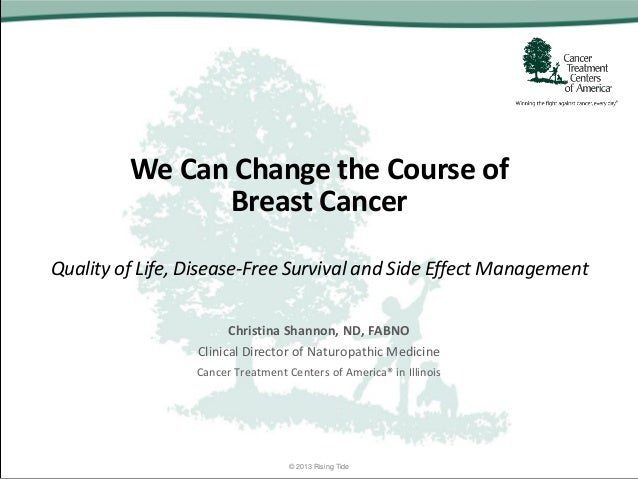 We Can Change the Course of Breast Cancer Quality of Life, Disease-Free Survival and Side Effect Management Christina Shan...