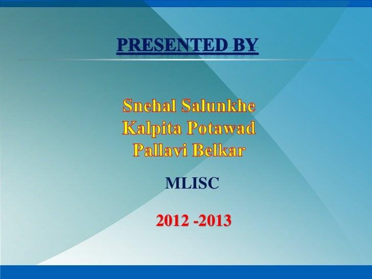 MLISC2012 -2013