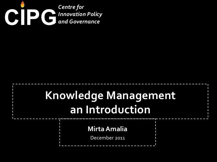 Knowledge management   v2.0 mirta amalia