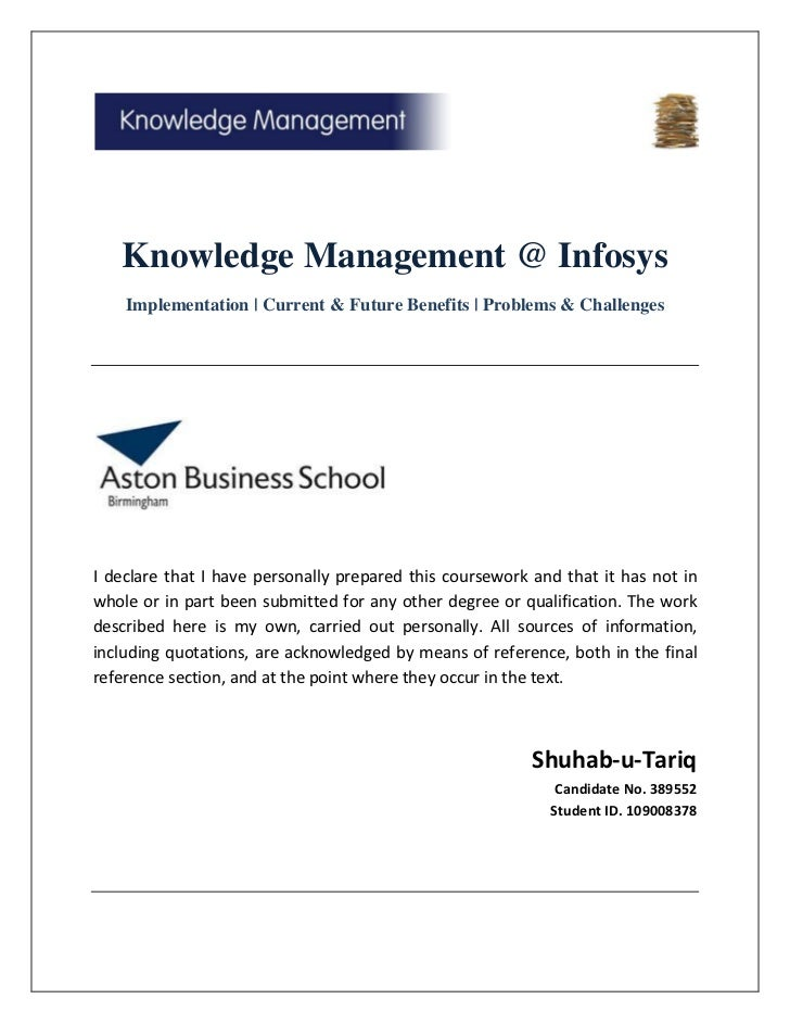 Knowledge Management at Infosys