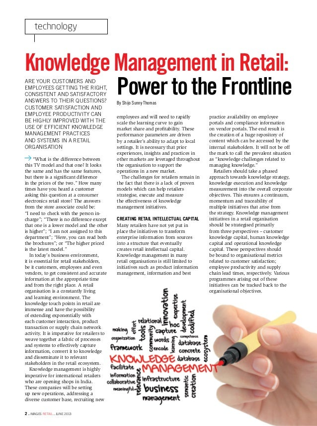 Knowledge Management in Retail- Images Retail - June 2013