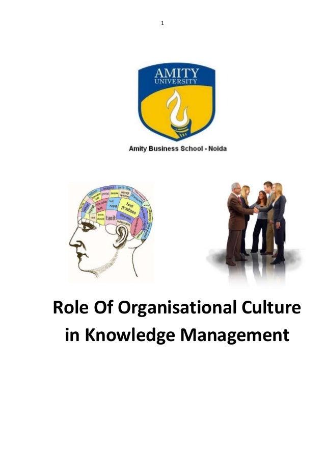 Knowledge management & organizations