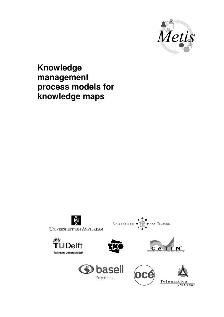 Knowledge management process models for knowledge maps
